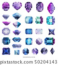 Ultra violet and purple gems 50204143