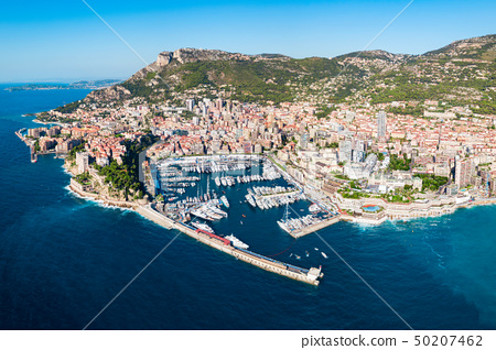 Monte Carlo aerial view, Monaco 50207462