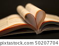 Open book with heart 50207704