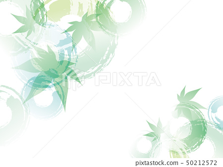 波紋藍色秋葉圈子背景綠色 50212572
