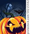 Halloween Pumpkin in the Forest 50215562
