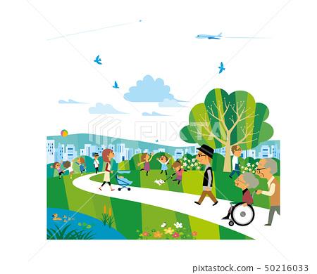 公園裡擠滿了人 50216033