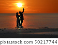 Silhouette of Asian couples are enjoying  during 50217744