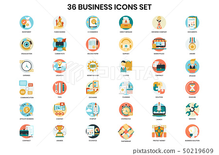 Business icons set for business 50219609
