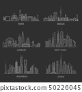 Cities skylines. Vector illustration 50226045
