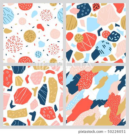 A collection of colorful geometric patterns. 50226051