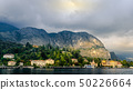View of village in forest in Lake Como from ferry 50226664