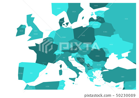 Political Map Of Central And Southern Europe Stock Illustration 50230089 Pixta
