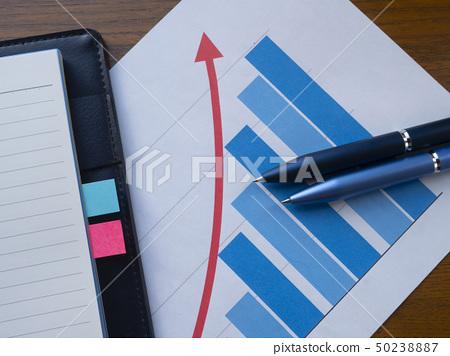 비즈니스 이미지 그래프 수첩 50238887