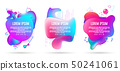 abstract of liquid 3d banner in three sets 50241061