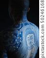 문신 문신 일본식 조각의 청년 50246168