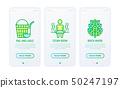Spa, sauna thin line icons set 50247197