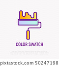 Paint roller thin line icon. Vector illustration 50247198