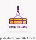 Crane thin line icon. Modern vector illustration 50247535