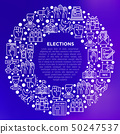 Election and voting concept in circle 50247537