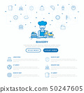 Bakery concept: baker with croissant. 50247605