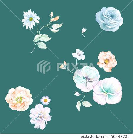 春天的色彩水彩花卉 50247783
