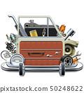 Vector Car Door with Automotive Parts 50248622
