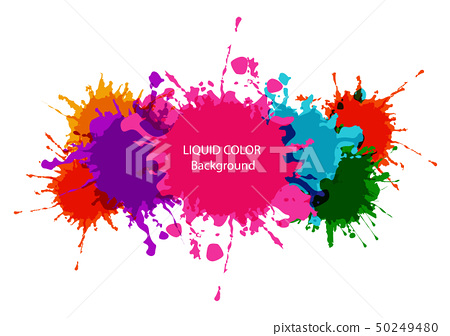 abstract vector liquid colorful background design. 50249480