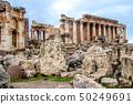 Roman city ruins of the ancient Baalbek in Lebanon 50249691