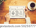 cryptocurrency, notebook, writing 50250777