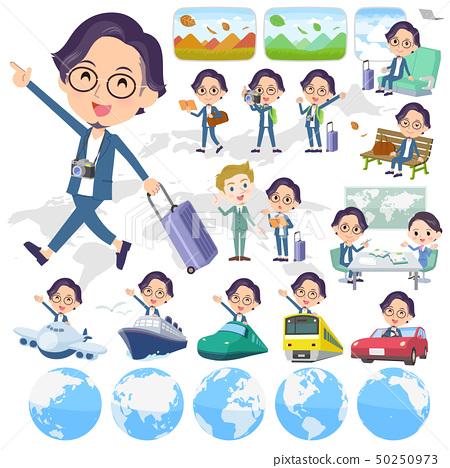 blue suit Glasses man_travel 50250973
