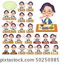 blue suit Glasses man_Meal 50250985
