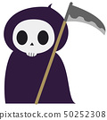 死亡萬聖夜服裝的例證 50252308