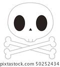 頭骨標記的插圖(醫生,頭骨,骨架,提示) 50252434