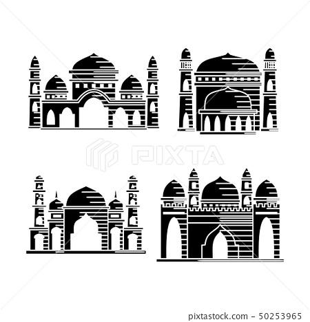 Mosque icon vector Illustration design template 50253965