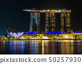 Singapore skyline cityscape around marina bay at 50257930