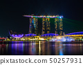 Singapore skyline cityscape with light and water 50257931
