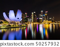 Singapore skyline cityscape with light around 50257932