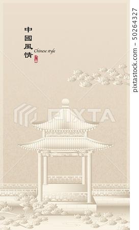 Elegant retro Chinese style background template 50264327