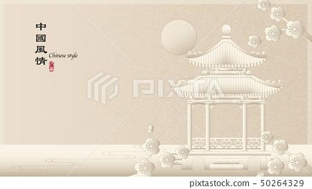 Elegant retro Chinese style background template 50264329