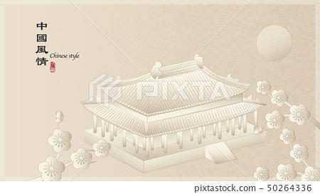 Elegant retro Chinese style background template 50264336