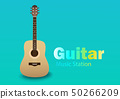 A single piece of international guitar on a bluish 50266209