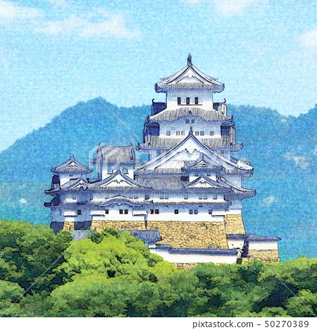 Himeji Castle west side (from Mt. Naiko) 50270389