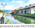 Otaru canal watercolor style illustration 50270392
