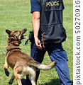 Police officer and his dog 50270916