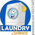 laundry logo cartoon for your business isolated 50271207