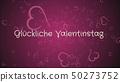 Gluckliche Valentinstag, Happy Valentine's day in german language, greeting card 50273752