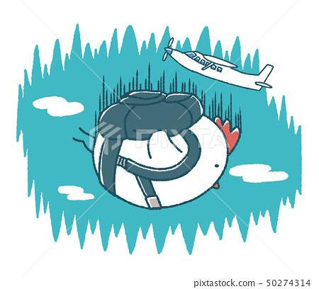 蓬鬆的嬰兒天空潛水 50274314