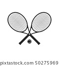 Tennis racquets with ball 50275969