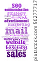 Mail word cloud concept 50277717