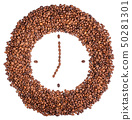 Wall clock of coffee beans 50281301