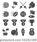Vector illustration Fitness and Sport icons on 50282389