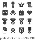 Vector Gray Votes and Rewards icons set 50282390