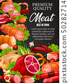 Meat products, smoked bbq and sausages 50282714