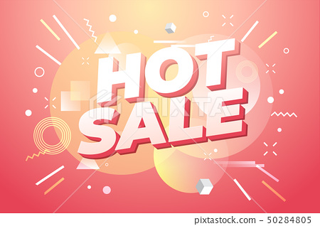 Hot Sale banner, special offer. 50284805